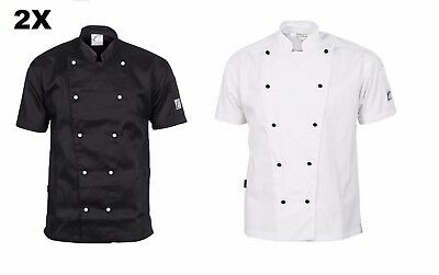 3 X Traditional Chef Jacket Short Sleeve DNC Work Wear 1101