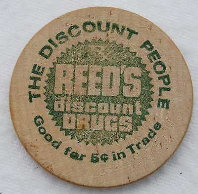 Wooden Nickel - Vintage Reed's Discount Drugs