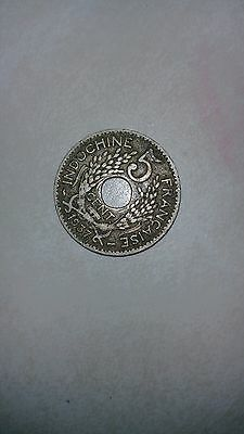 1937 french (indochine) 5 cents coin