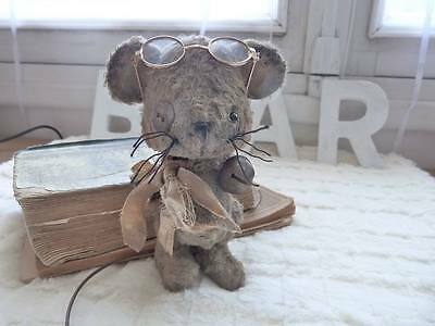 Mohair/Viscose Vintage Mouse Kit , 5 - 5,5 Inch, Incl. Glasses