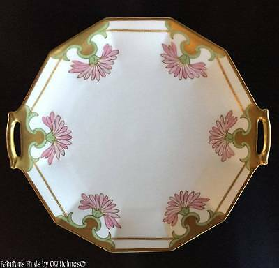 Antique Art Nouveau LIMOGES Porcelain Serving Tray Platter Blakeman & Henderson