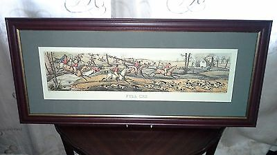 "Henry Alken Framed Print ""full Cry"""