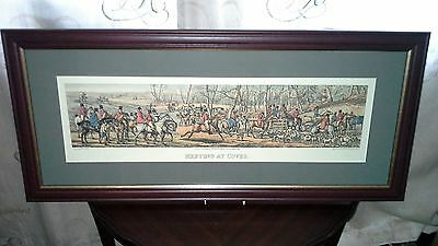 "Henry Alken Framed Hunting Print ""meeting At Cover"""