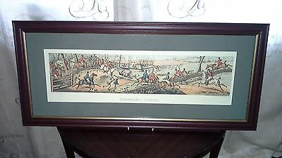 "Henry Alken Framed Print ""breaking Cover"""