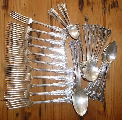 Sheffield Silver Plated Cutlery 27 Pieces