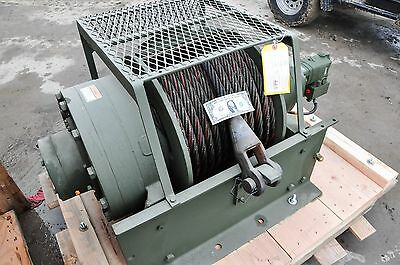 NEW-Winch 55,000 Lb.DP Manufacturing Hydraulic Planetary 150 feet 1 Inch Cable