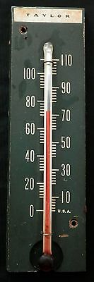 Vintage Wooden Thermometer TAYLOR