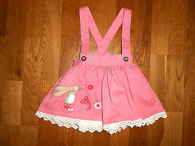 * NEXT girls Strawberry BUNNY rabbit skirt with braces 6-9 months