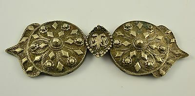 Antique Bulgarian Karlovo early XXth,silver alloy, Cast Belt Buckles