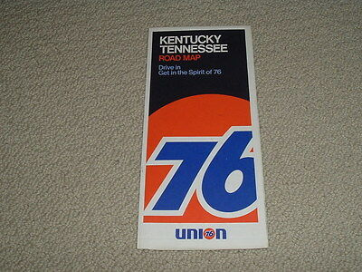 Vintage Union 76 Road Map Kentucky Tennessee 1970