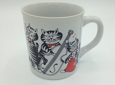 Vintage B Kliban Cat With Musical Instruments