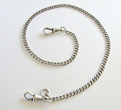 Old antique sterling silver Albert watch chain 18 grams