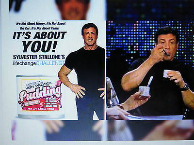 Sylvester Stallone High Protein Pudding COLLECTIBLE Sly FREE SHIPPING