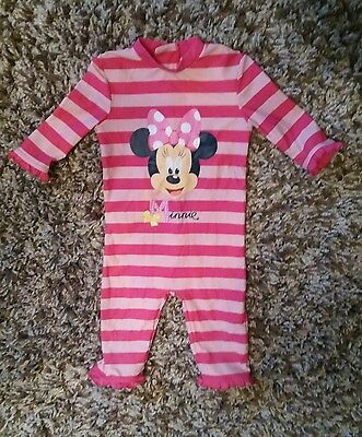 Disney Store minnie mouse girls pink sun protection uv swimsuit 18-24 months