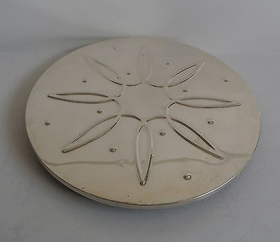 Towle Sterling Silver Trivet Or Coaster Art Moderne