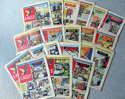 Eagle comic collection of 20 early, volume 5, 1-21. Dan Dare Operation Saturn