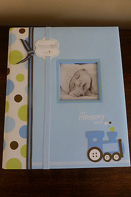 NWT Lil Peach Train Baby Memory Book by Pearhead 50 Pages Polka Dots & Trains