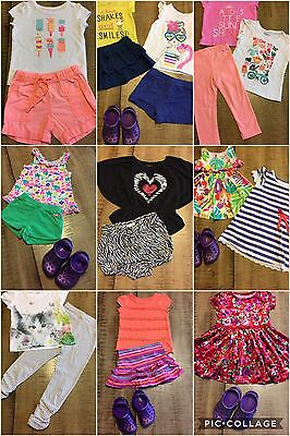 Girls Clothes Sz 2T-3T Summer Fall Outfits Lot Of 29 Pc
