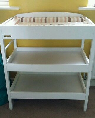 East coast white wooden baby changing unit