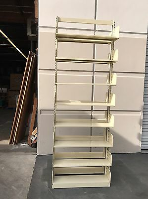 """Rare used 102"""" Cantilever Library Shelving Units As Single Sided Or Double Sided"""