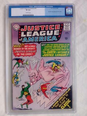 Justice League Of America #37 Cgc 8.0 Old Label !