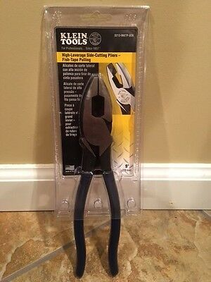 NEW Klein D213-9NETP-SEN High Leverage Side Cutting Pliers Fish-Tape Pulling