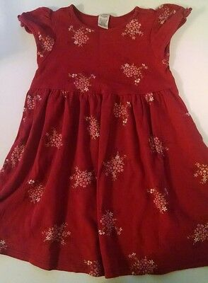 Girls Gymboree red floral short sleeve dress size X-large 6yrs