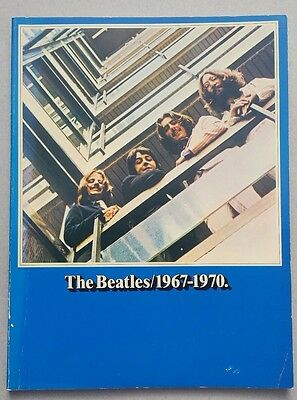The Beatles 1967-1970 blue album sheet music song book (1978)