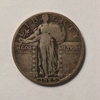 1929-S Standing Liberty Quarter F/vf Low Mintage