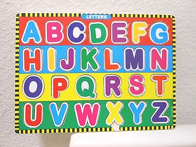 Educational alphabet letters puzzle wooden board toy for babies,toddlers,kids