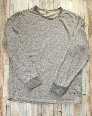 Five Four Mens Long Sleeve Crew Neck Cotton Blend Gray Shirt Sweater Size XLarge