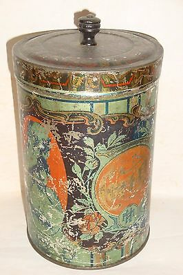 Nice Old Tin Litho Hoosier Cabinet Coffee Advertising Grocery Tin Can