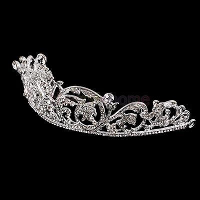 MagiDeal Flower Headdress Headband Formal Wedding Bridal Queen Crown Tiara