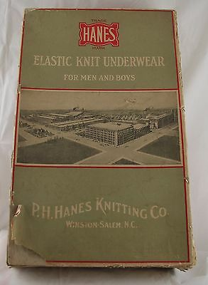 Vintage HANES ELASTIC KNIT UNDERWEAR ADVERTISING BOX – P.H. Hanes Knitting Co.