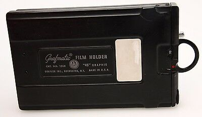 Graflex 4x5 Graphmatic Back with 6 Septums #1268 EXC, copy of Book#357655