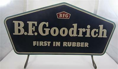 VTG Advertising B F Goodrich Tire Gas Oil Service Station Sign 2 Side Stand Nice