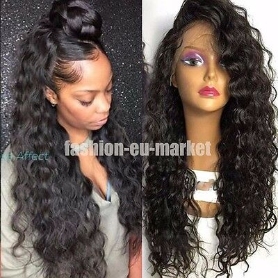 Brazilian Virgin Human Hair Wigs Long Body Wave  Human Hair Wigs With Baby Hair