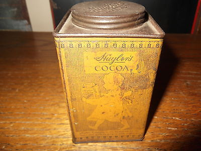 Vintage Huyler's Cocoa Tin with Little Girl Baker - Neat Old Graphics!