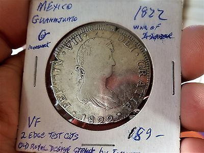 1822 Mexico Silver Coin 8 Reales, Empire of Iturbide
