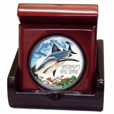 2017 $1 Deadly and Dangerous Bull Shark 1oz Silver Proof Coin