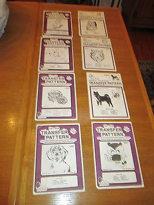Vintage Pretty Punch - Lot Of 8 - Hot Iron Transfer Pattern For Punch Embroidery