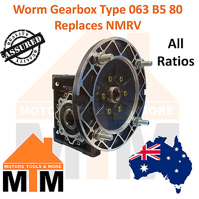 Worm Gearbox Industrial Type 063 B5 80 Replaces NMRV