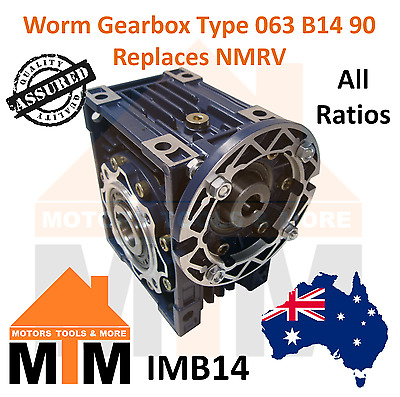 Worm Gearbox Industrial Type 063 B14 90 Replaces NMRV