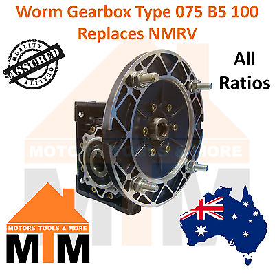 Worm Gearbox Industrial Type 075 B5 100 Replaces NMRV
