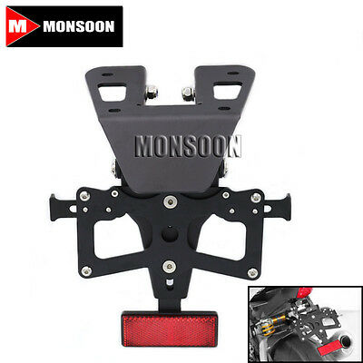 For YAMAHA YZF-R3 YZF-R25 Adjustable Fender Plate Bracket License Plate Holder