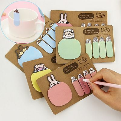 4colors Kawaii Animal Paper Stickers Diary Stickers Memo Pads Office Stationery
