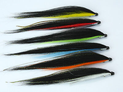 Tube Fly Skinny Sunray Shadow Salmon Flies (8-pack) -H046,,H047,,