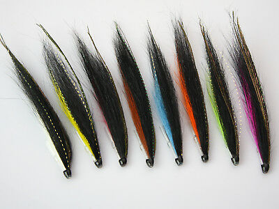 Tube Fly Mini Sunray Shadow Riffle Hitch Salmon Flies 8 Colors Kits (8-pack)H048