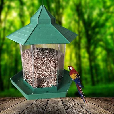 Hanging Waterproof Gazebo Wild Bird Feeder Outdoor Feeding For Garden Decoration