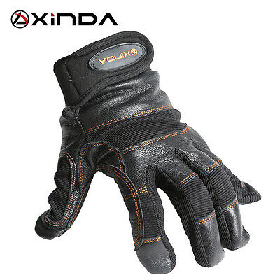 XINDA SRT Rope Climbing Caving Rescue Wear Non-slip Protective Leather Gloves